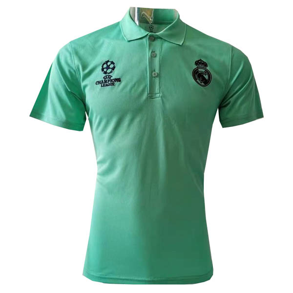 Camiseta polo UCL verde de Real Madrid baratas 2019-20