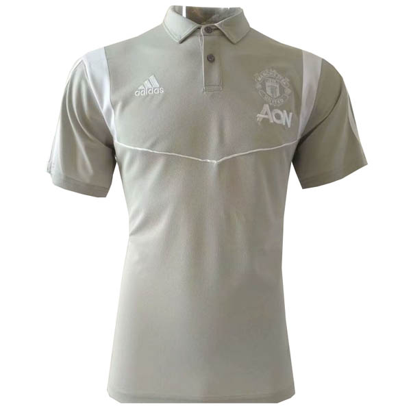 Camisetas polo del Manchester United gris 2019